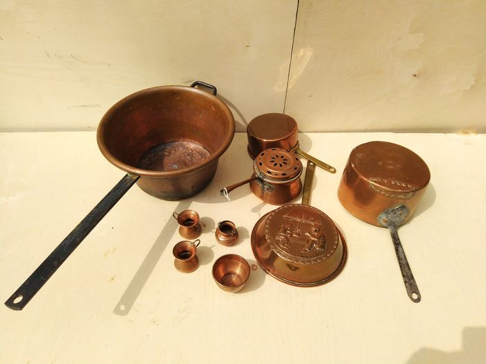 pots - measuring cups (9) - Brass, Copper