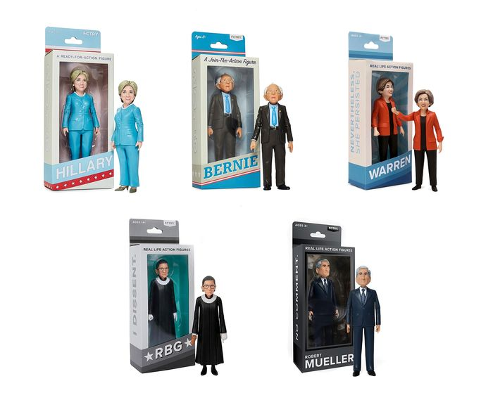 FCTRY x Mike Leavitt - RBG, Hillary, Bernie, Mueller and Warren Figures ALL NIB!
