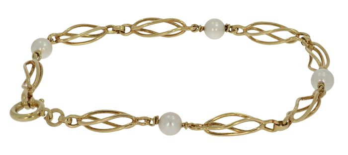 14 kt. Yellow gold - Bracelet Pearl