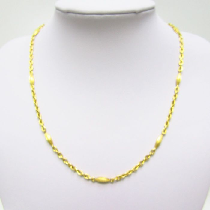 46,50 cm. - 22,75 gr. - 18 kt. Yellow gold - Necklace