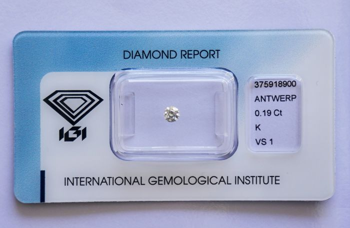 Diamond - 0.19 ct - Round - K - VS1