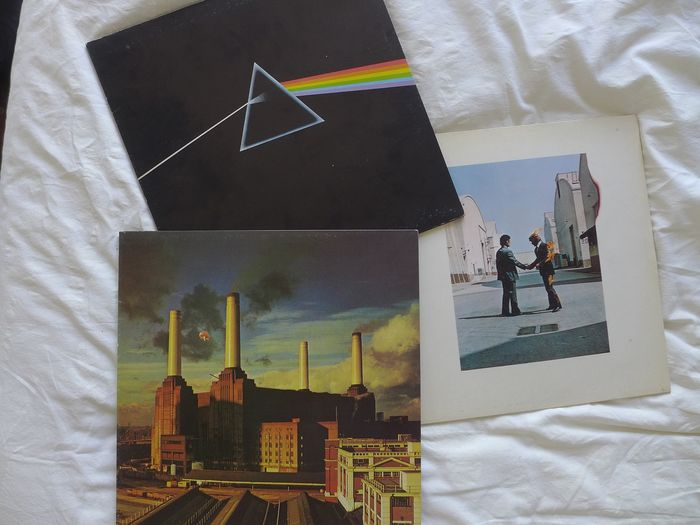 Pink Floyd - Dark Side Of The Moon - Wish You Were Here + Animals - Multiple titles - LP's - 1973/1977