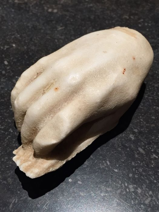 Ancient Roman Marble sculpture of a hand - 5×5×10.5 cm