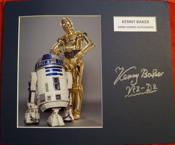 Star Wars - R2D2 Kenny Baker Star Wars hand signed Photo Display - Autograph, Photo