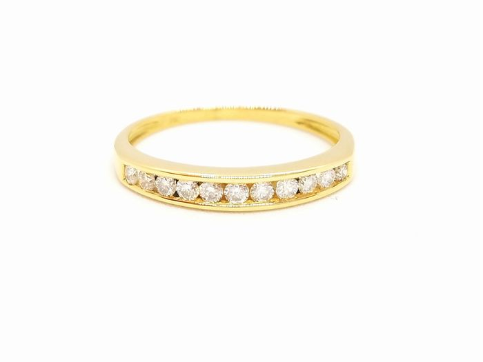 18 kts. Yellow gold - Ring Diamond