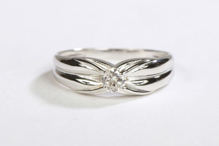 18 kts. White gold - Ring Diamond