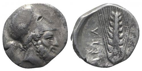 Greece (ancient) - Southern Lucania, Metapontion,  AR Stater c. 325-275 BC. - Silver