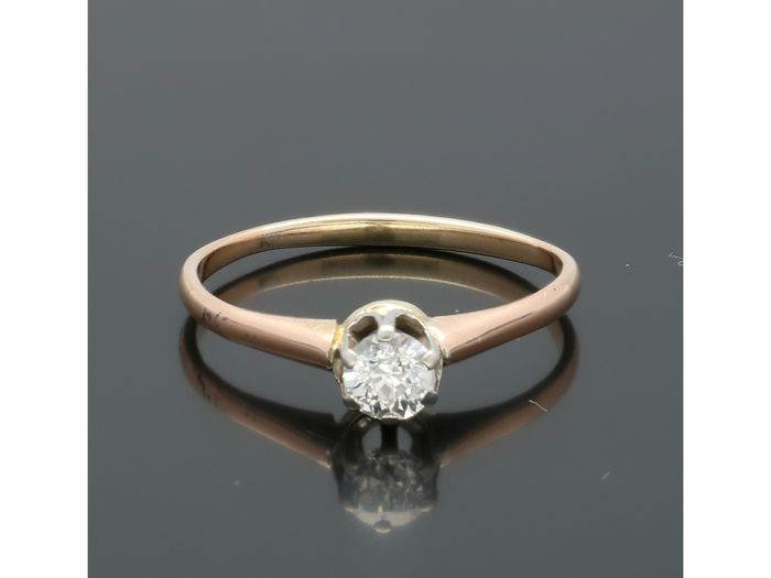 14 kt Gold - Ring - 0.30 ct Diamond