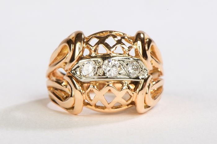 18 kts. Pink gold - Ring Diamond