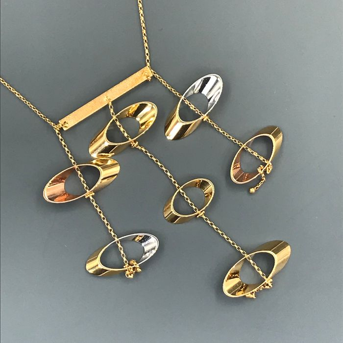 UnoAErre - 18 kt. White gold, Yellow gold - Necklace