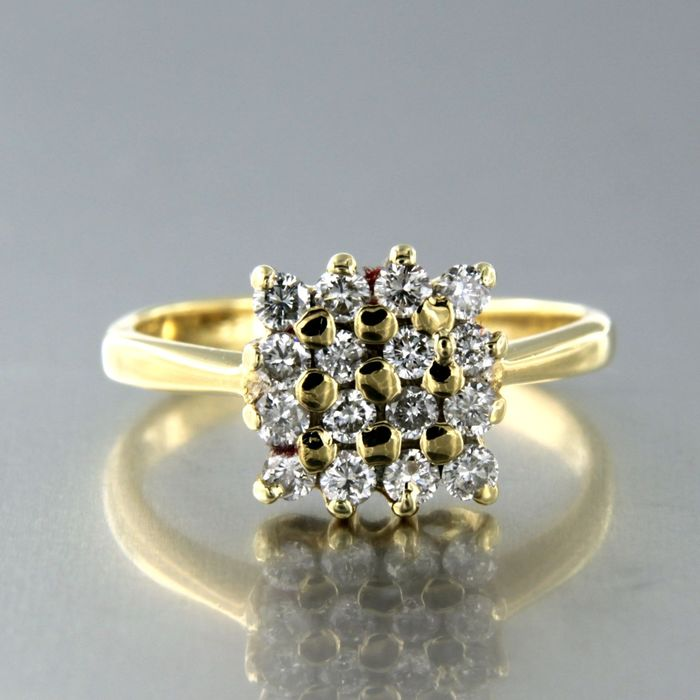 18 kt. Yellow gold - Ring - 0.55 ct Diamond