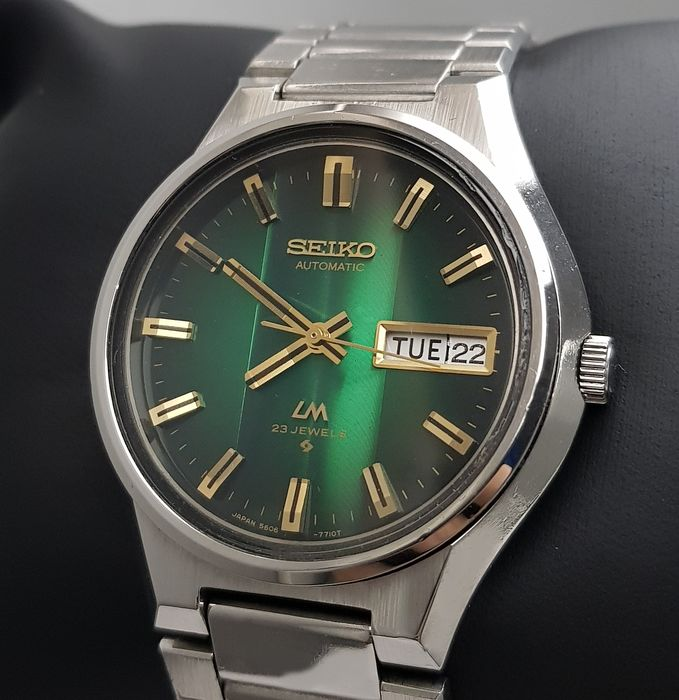 Seiko - 'NO RESERVE PRICE' Lord Matic Green Automatic Rare Vintage Men - 5606-7350 - Men - 1970-1979