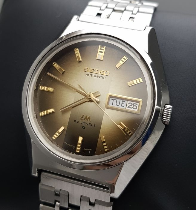 Seiko - 'NO RESERVE PRICE' Lord Matic  Automatic Brown Vintage Men - 5606-7310 - Men - 1970-1979