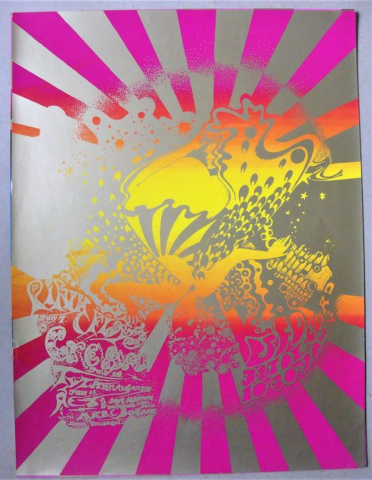 Cream, T.Rex, Pink Floyd - Syd Barrett Ufo Club London 1967 - Reprint Poster (Neuauflage) - 1990
