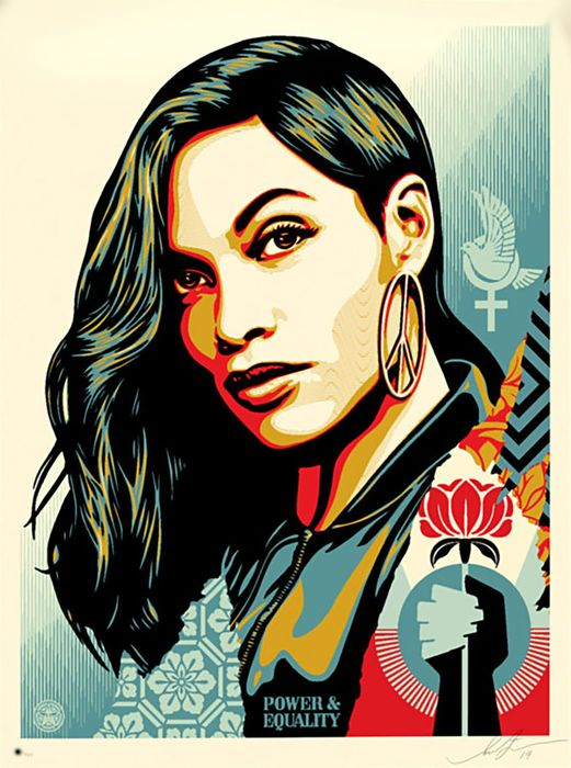 Shepard Fairey (OBEY) - 'Power & Equality' (Flower)