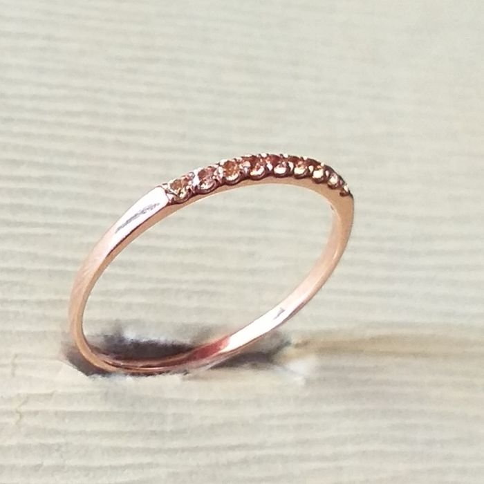 other - 18 kt. Pink gold - Ring Sapphire