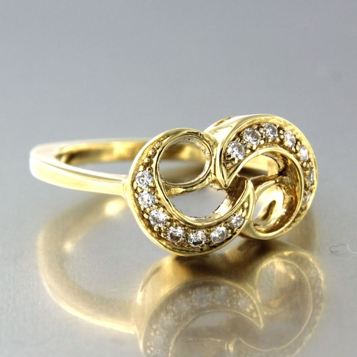 18 kt. Yellow gold - Ring - 0.21 ct Diamond