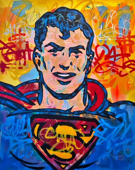 Dillon Boy - Vintage Superman / Comic Book #1 Graffiti Street Art
