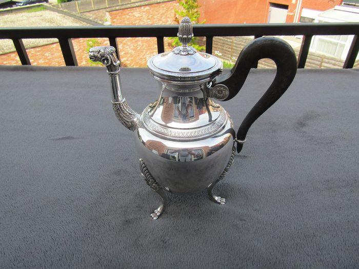 Coffeepot (1) - Silver plated - CHRISTOFLE - France - First half 20th century