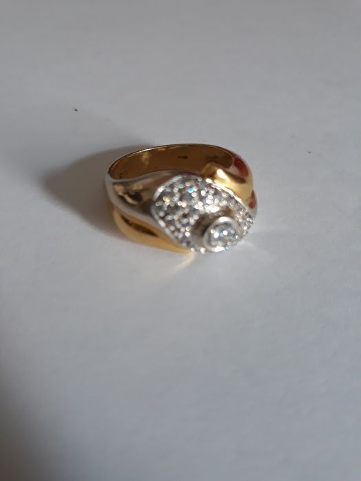 18 carats Or blanc, Or jaune - Bague