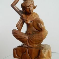 A half naked woman - Philippines - sculpture - wenge wood