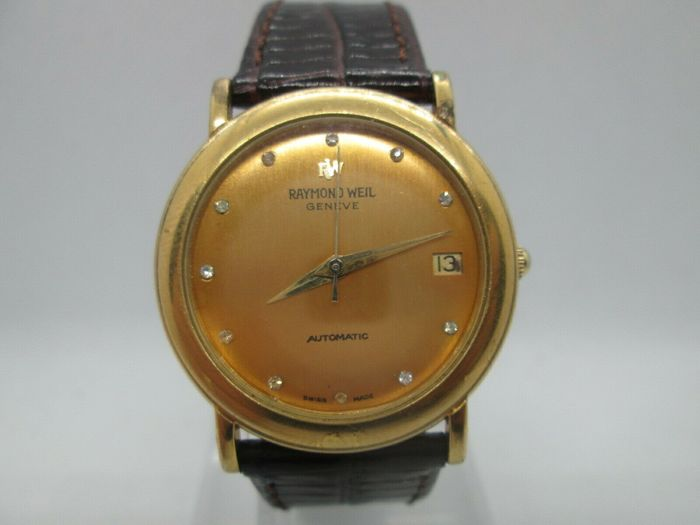 Raymond Weil - Geneve - 18k Gold Plated Automatic - model no. 2900 - Men - 1980-1989