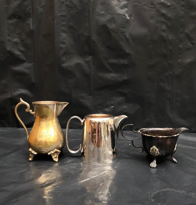 EPNS - Pot and Jugs - Silverplated