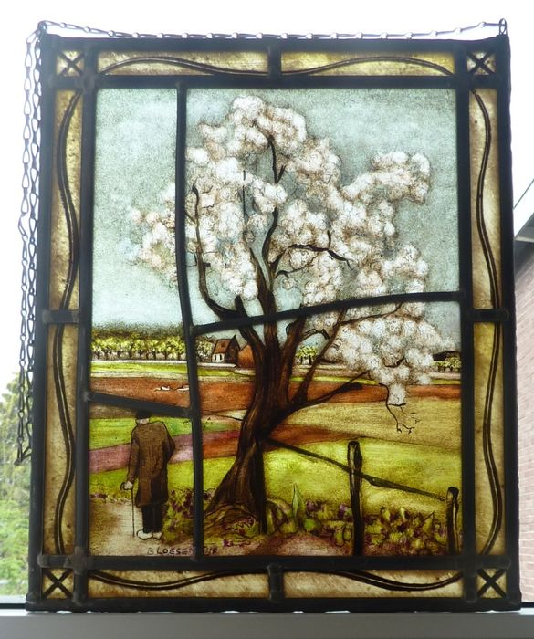 """Window hanger """"blossom time"""" - stained glass"""