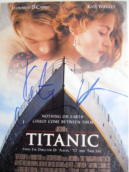 Kate Winslet - Titanic - Signed postcard ( in person, Vienna 2017) with Coa