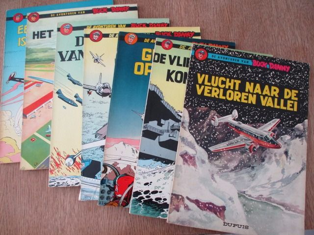 Buck Danny - 7 albums in 2e druk met houthoudend papier - Softcover - Reprint - (1965/1967)