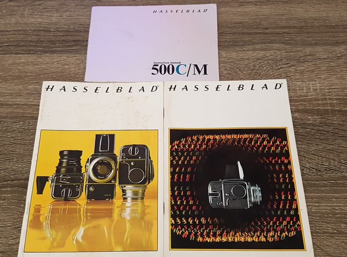 Hasselblad 500c Three manuals for Hasselblad  500c/m 500el/m cameras models