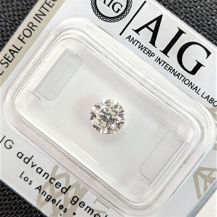 Diamant - 0.69 ct - Brillant - K - I1, No Reserve Price
