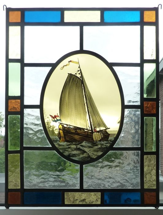 """window hanger """"sailboat"""" - Stained glass"""