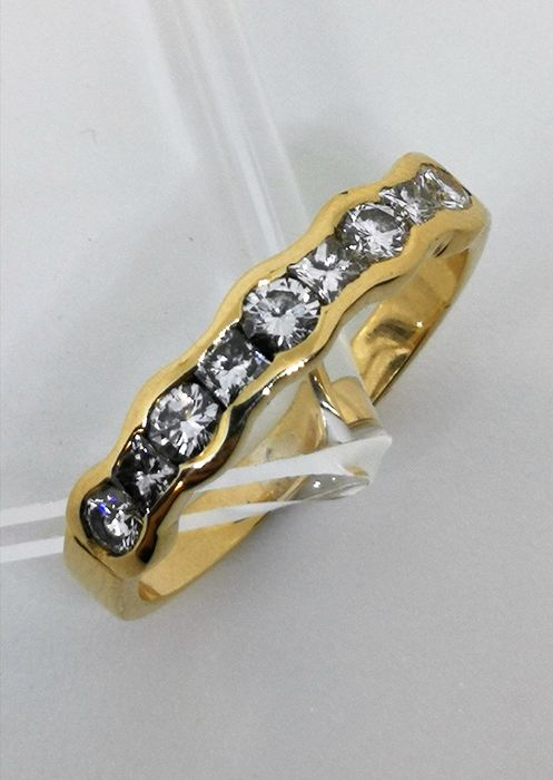 18 kt. Yellow gold - Ring - 0.50 ct Diamond