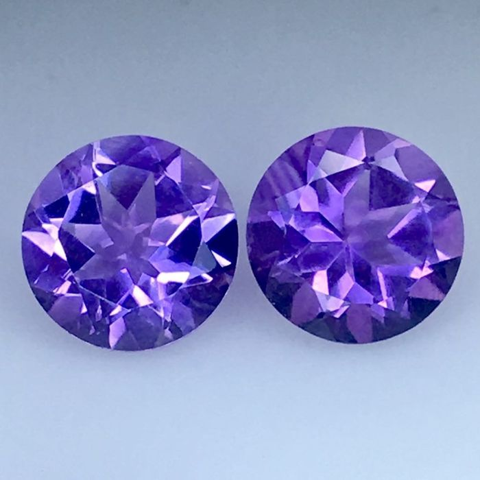 2 pcs Purple Amethyst - 3.48 ct
