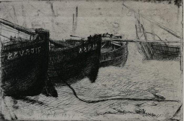 Paul Albert Besnard (1849-1934) - Barques à Berck