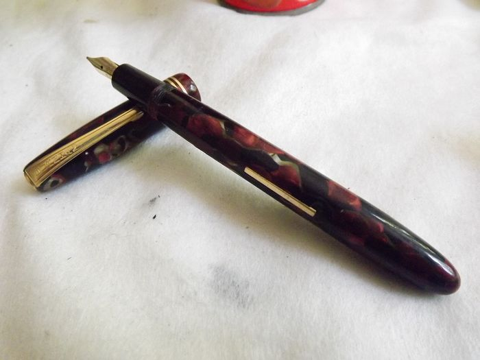 burnam - Fountain pen - Collection. Burnam 48 feather 14K gold