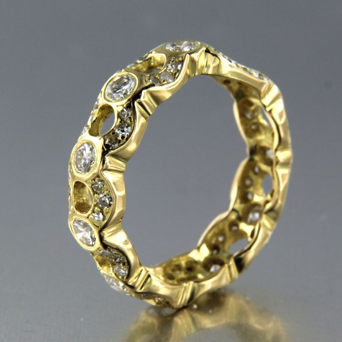 18 kt. Yellow gold - Ring - 1.00 ct Diamond
