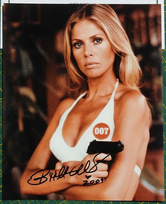 James Bond - 007 - Bond Girl - Britt Ekland in The Man With The Golden Gun as Mary Goodnight  - hand signed photo with COA