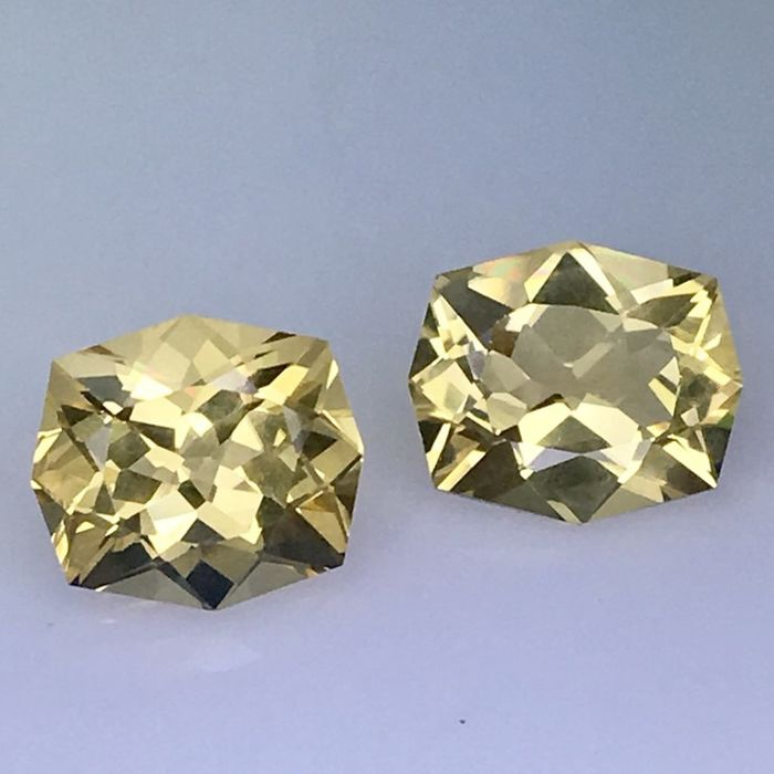 2 pcs Yellow Citrine - 10.29 ct