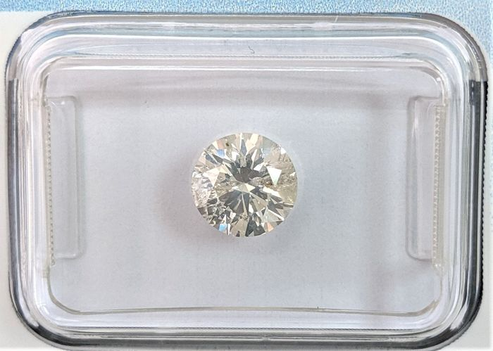 Diamond - 1.01 ct - Brilliant - J - IGI Antwerp - No Reserve Price