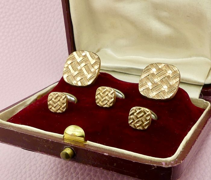 Fix - Antique - Flip - 18 kt. Gold-filled - Cufflinks, Set, Buttons