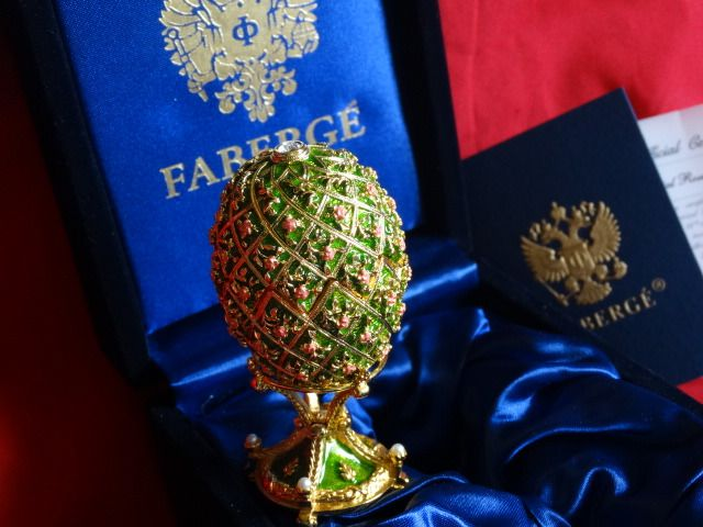 Faberge egg Imperial  - Fabergé - Certificate of Authenticty - Numbered - authentic - 24 k gold finish