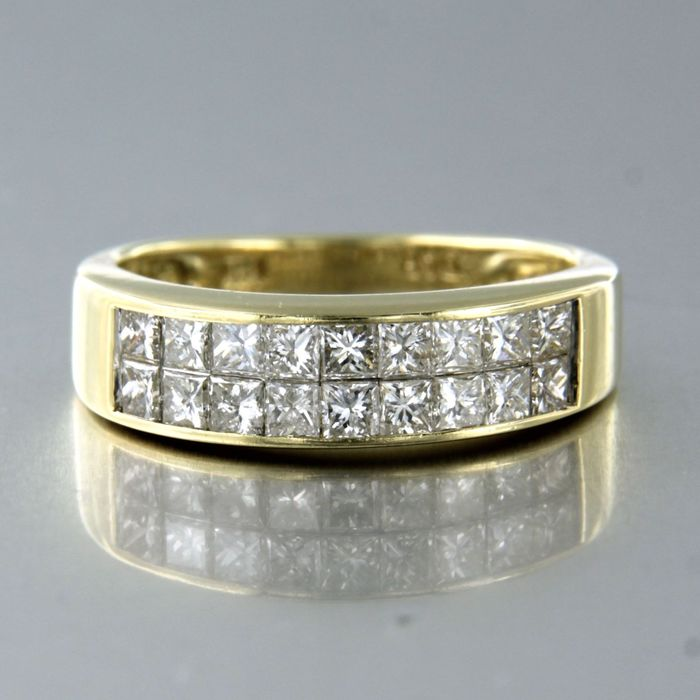14 kt Gelbgold - Ring - 1.10 ct Diamant