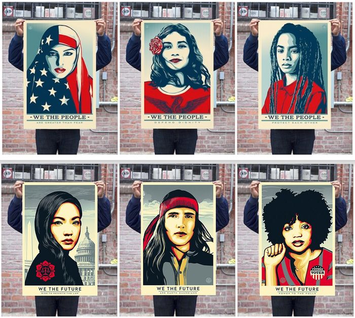 Shepard Fairey (OBEY) - We The People + We The Future Print Suite
