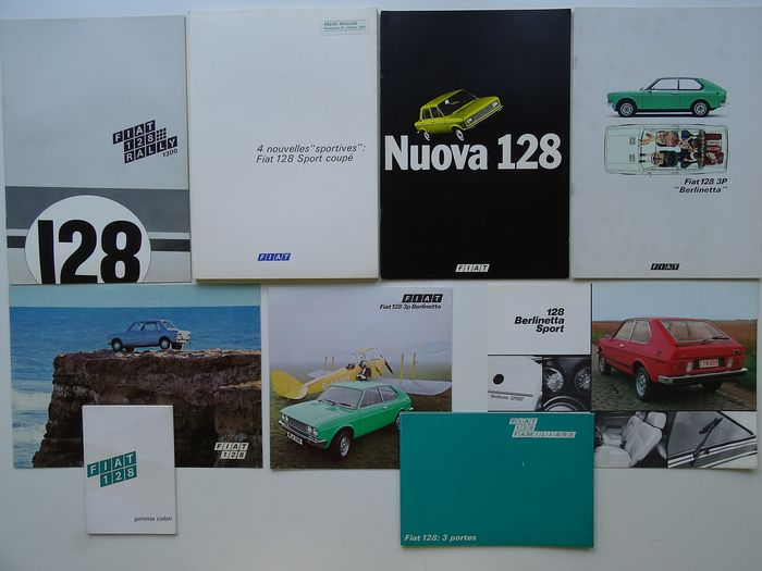 Brochures / catalogues - FIAT - 128 Rally 1300, Sport Coupé, Berlinetta Sport, Panorama, Nuova, etc - 1971-1977
