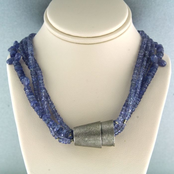 925 Silver - Necklace Sapphire