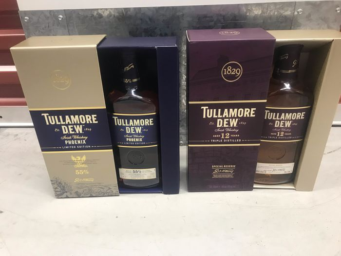 Tullamore Dew Phoenix & 12 years old Special Reserve - 0,7ltr - 2 bottiglie
