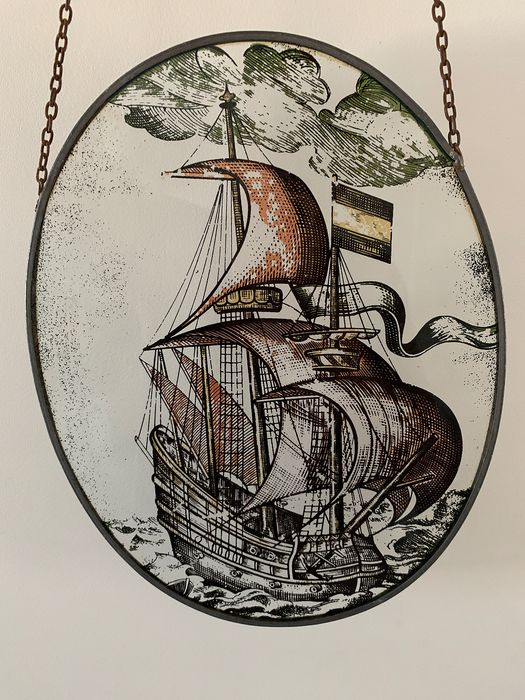 Raamhanger Glas in Lood - The VOC ship - Stained glass
