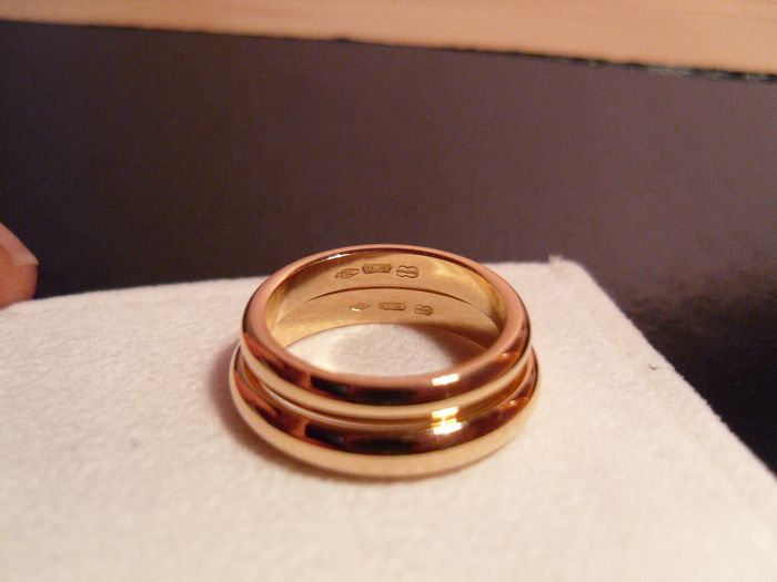 UNOAERRE - 18 kt. Yellow gold - 2 New rings